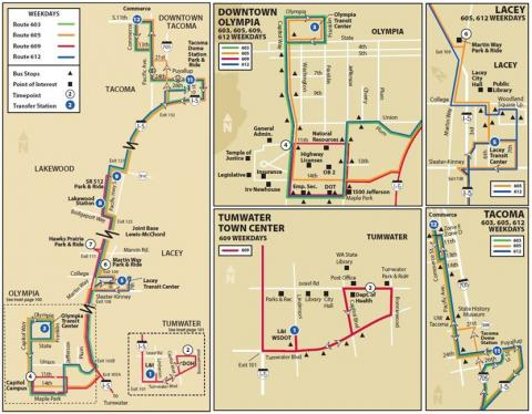 Express Routes 603, 605, 609, & 612