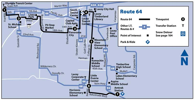 map of route 64
