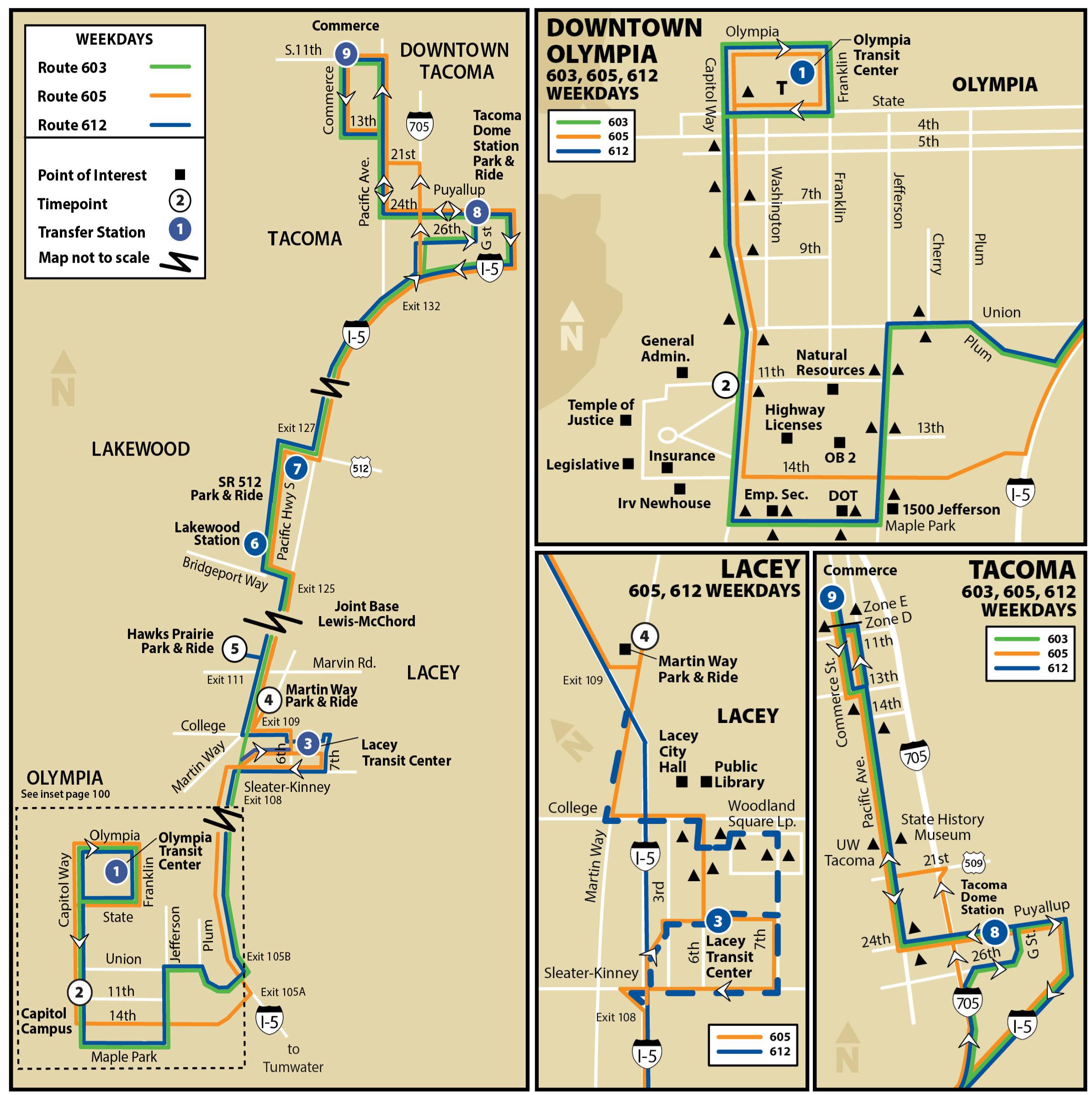 603 605 612 Intercity Transit