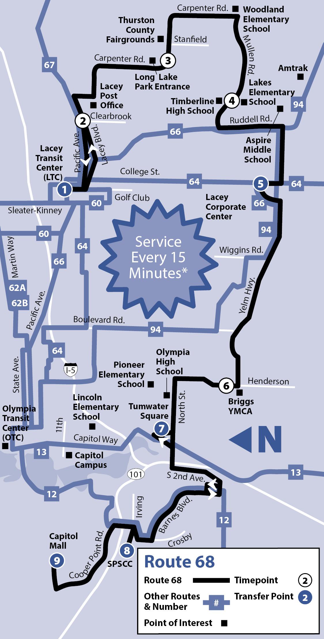 68 Rt Charger: Intercity Transit