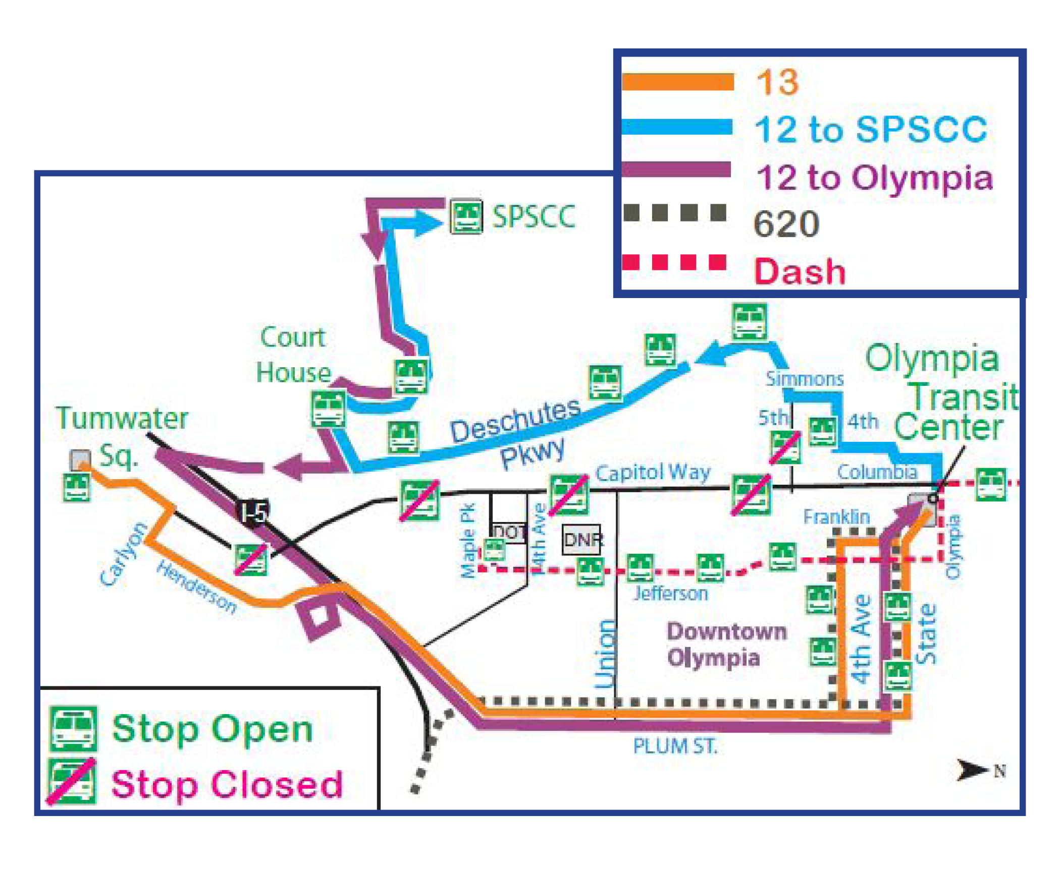 Routes 12 13 620 And Dash On Detour Due To The Closure