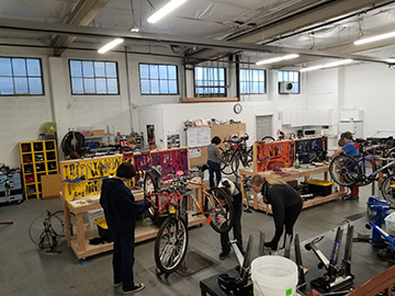 Busy bike shop
