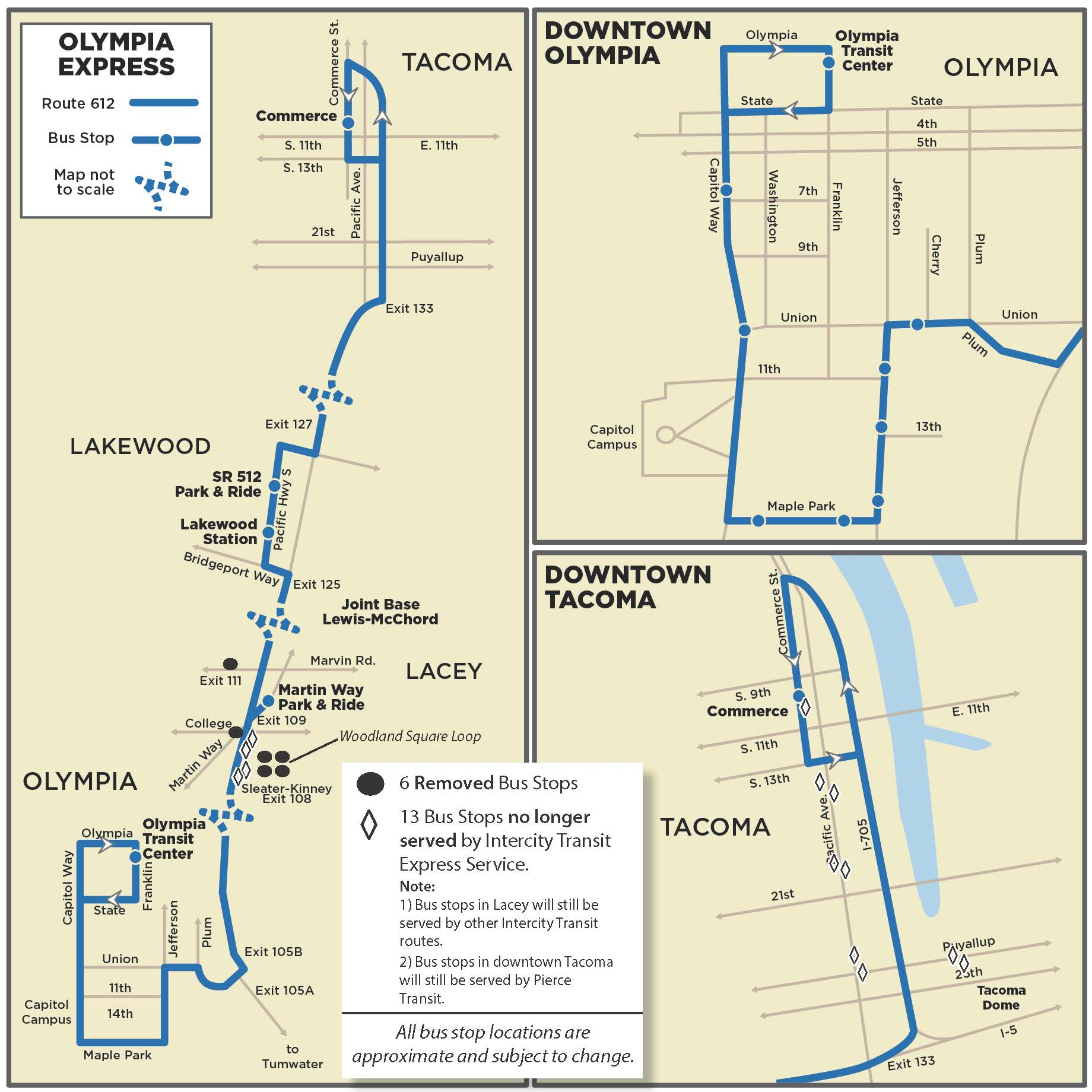 route 612 - proposed 2018 service changes | intercity transit