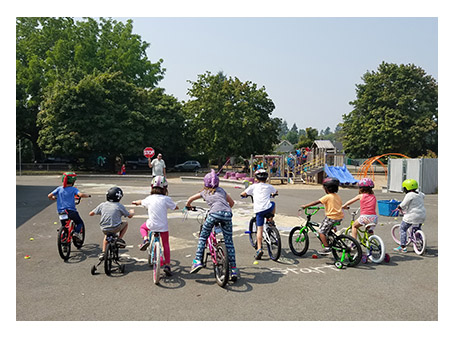 image of kids on bikes