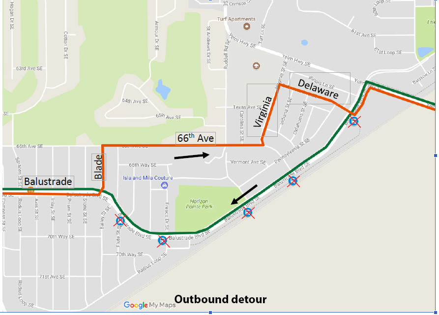 Outbound detour