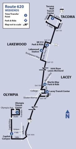 Map of Route 620
