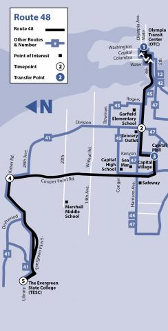 Route 48 as of March 24, 2019