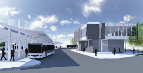New Olympia Transit Center Building, View from the Southeast