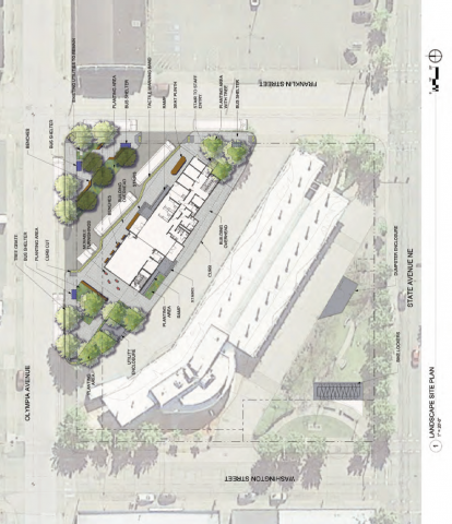 New Olympia Transit Center Building, top down view