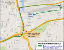 26th Ave Exit is not accessible from NB I-5/I-705